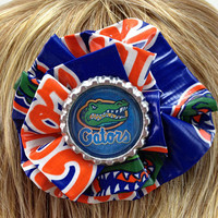 University of Florida Gators Duct Tape Hair Clip by PyrateWench