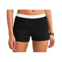Women's Core Active Dolphin Hem Knit Shorts With Elastic Waistband - Walmart.com