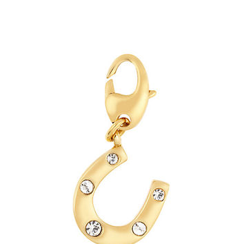 Kate Spade Horseshoe Charm Clear/Gold ONE