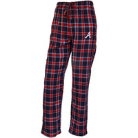 Atlanta Braves Acclaim Plaid Flannel Pajama Pants – Navy Blue