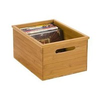 Bamboo DVD Bin | The Container Store