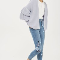 Topshop Layered Ruffle Sleeve Cardigan | Nordstrom