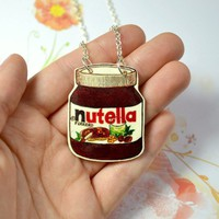 Nutella Jar necklace - Bows Jewellery