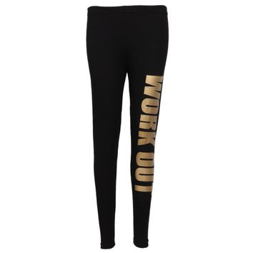 1 PC New Lady Popular Seamless Slim Leggings Letter Print Mid Waist Legging Jeggings Four Colors