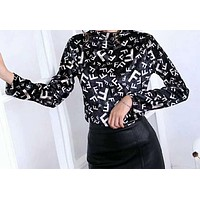 Louis Vuitton Gucci Fendi Autumn Winter Popular Women Casual Long Sleeve Pleuche Sweater Top