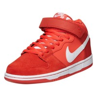 - DUNK MID PRO TRAINERS BY NIKE SB IN LIGHT CRIMSON WHITE