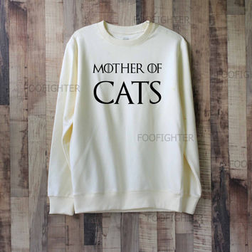 Mother of Cats Shirt Sweatshirt Sweater – Size XS S M L XL