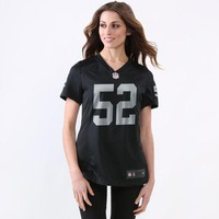Women's Oakland Raiders Khalil Mack Nike Black Game Jersey