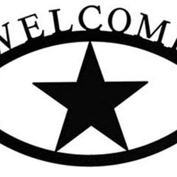 Wrought Iron Star Welcome Home Sign Large