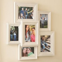 White Vintage Collage Frames