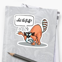 'What the Fluff! Angry Cat' Sticker by lovewithfluff