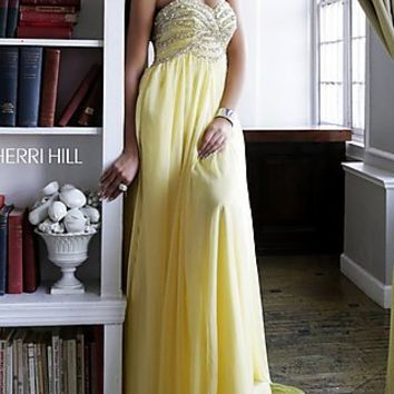 Beaded Top Strapless Gown by Sherri Hill
