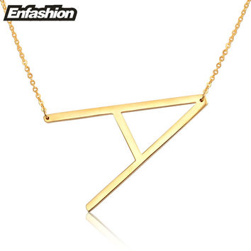 fashion letter necklaces pendants alfabet initial necklace 24k g