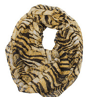 Girls Tiger Print Eternity Scarf