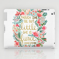 Little & Fierce iPad Case by Cat Coquillette