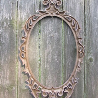1971 Shabby Chic Pretty in Pink Mirror Frame, Homco, Up Cycled Valentine Pink, Sweetheart Bedroom Decor, 79F