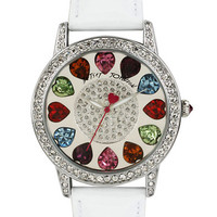 Betsey Johnson Ladies Multi-Color Swarovski Crystal Dial Watch