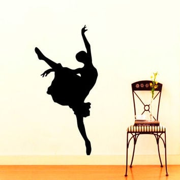 Wall Vinyl Decal Sticker Ballerina Dance Studio Art Design Room Nice Picture Decor Hall Wall Chu190