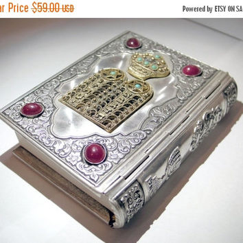 ON SALE Antique prayer book,small Jewish siddur 1968 sefaradi version