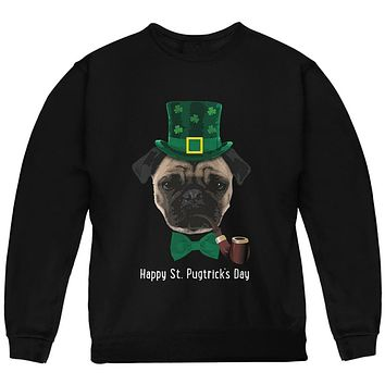 St. Patrick's Pugtrick's Day Funny Pug Youth Sweatshirt