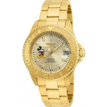 Invicta Men's 22779 Disney Automatic 3 Hand Champagne Dial Watch