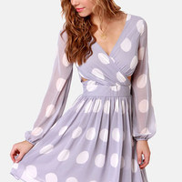 Polka Latte Lavender Polka Dot Dress