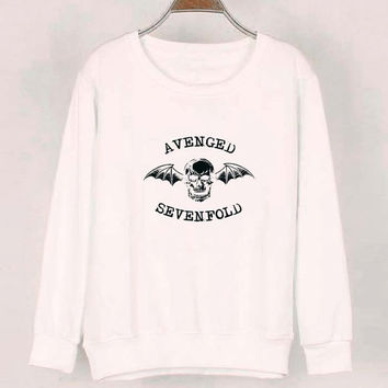 avenged sevenfold sweater White Sweatshirt Crewneck Men or Women for Unisex Size with variant colour