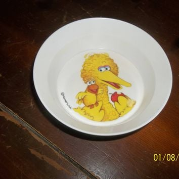 vintage muppets sesame street big bird child's melmac bowl