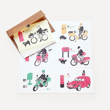 Hello! Mr. Postman Greeting Card Set (10 cards / set)