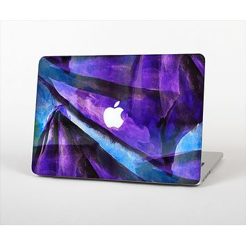 The Grunge Dark Blue Painted Overlay Skin Set for the Apple MacBook Pro 13""