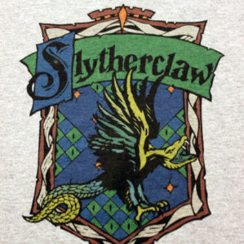 Slytherclaw Cross-House Crest Crew Neck T Shirt