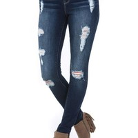 Sasha Skinny High Rise Distressed Ultra X Jeans