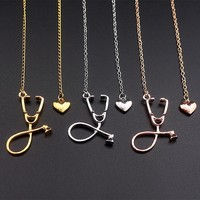 Doctors and Nurses Stethoscope Charm Necklaces and Pendants