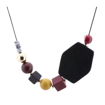 Asymmetrical Chunky Statement Necklace