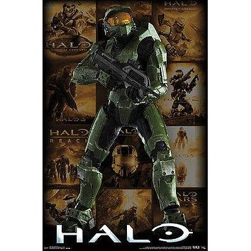 "Halo Master Chief Collection Collage Poster Picture Art Print Licensed 23""x32"""