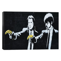 Pulp Fiction Bananas by Banksy (Canvas)
