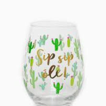 Sip Sip Ole Stemless Glass By Slant