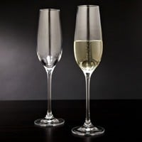 Forever Bubbling Champagne Flutes, Set of 2 (Engravable)