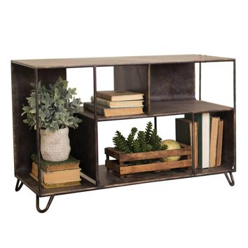 Industrial Metal Mini Console Unit