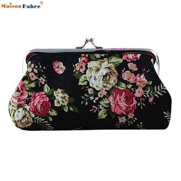 LMFIJ6 Naivety 2016 New Lady Vintage Flower Small Wallet Women Hasp Coin Purse Clutch Bag Good For Gift JUL28 drop shipping