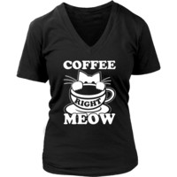 Black And White Coffee Right Meow Shirts & Hoodies