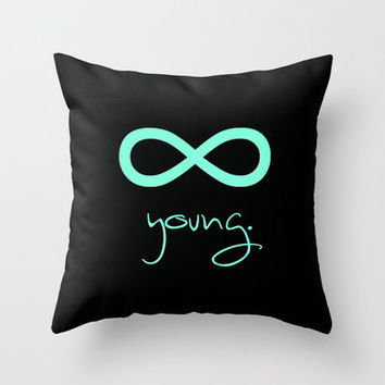 Forever Young Tiffany Mint Throw Pillow by Rex Lambo | Society6