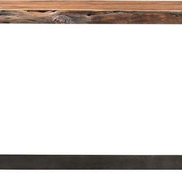 Bent Console Table Smoked Rustic Brown