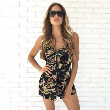 Peek Around Palm Romper