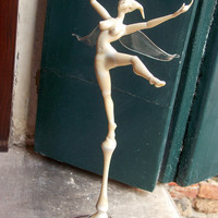 Angel dancing custom made sculpture, work of art.  Handcrafted in Venice, Italy