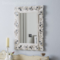 vintage style mirror from live laugh love