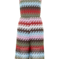 Crochet High Neck Culotte Jumpsuit - Topshop