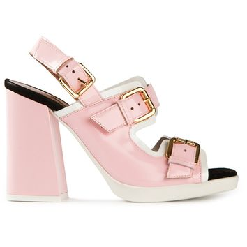 L'autre Chose Double Strap Sandals