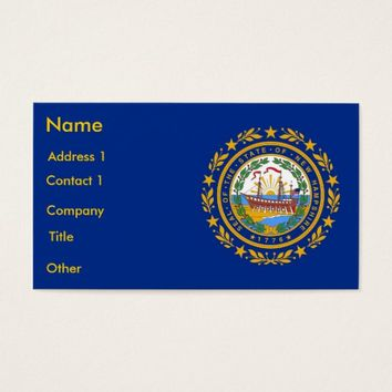 Business Card with Flag of New Hampshire U.S.A.