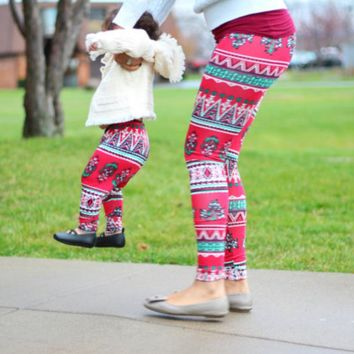 Mother and Daughter Leggings